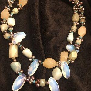 Accessories - Vintage moonstone necklace HANDMADE